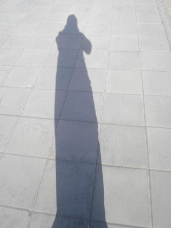 2011-11-18 Abaya Shadow and Shoe on a Walk (4)