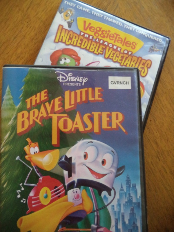 2013-08-20 Brave Little Toaster and Veggie Tales